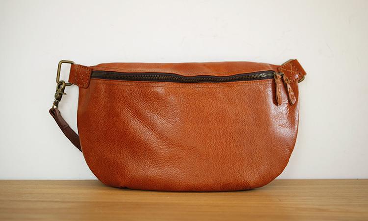 LAN free shipping men's leather shoulder bag real leather waist bag mens handbag fashion leather travel bag men's small bag(China (Mainland))