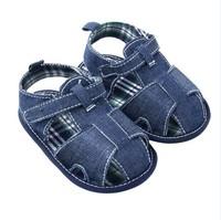 Cool Baby Boy Blue Jean Walking Shoes Toddler Summer Sandal Prewalker 3-12M Free&Drop Shipping
