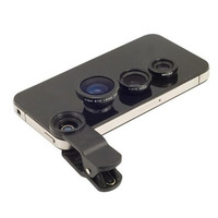 2014 Universal Clip Contact Lense Fish Eye Lense+ Macro + Wide Angle for iphone Samsung S3 S4 N7100 HTC 3in1 free shipping