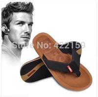 2014 summer plus size 43,44,45,46 male flip flops shoes men fashion slippers vintage sandals logo designers beachwear