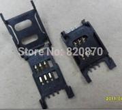 Free shipping 10pcs Simcard holder, Sim card socket 6PIN