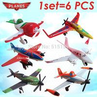 6pcs/lot dusty planes pixar toy plane aircraft classic toys for children kids ishani/ Ripslinger/ Skipper/ Bulldog/EL Chupacabra