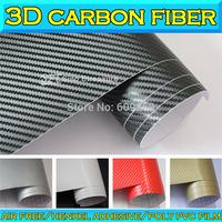 3D Big Grid Carbon Fiber Textured Vinyl Wrap Car Body Sticker With Air Drain Air Free Bubble 1.52x30m / 0.18mm