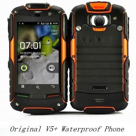 100% Original Dustproof Mobile Phone Rock V5 IP67 Waterproof Cell Phone V5+ Shockproof Phones Support Dual SIM Cards 2G 3G(China (Mainland))