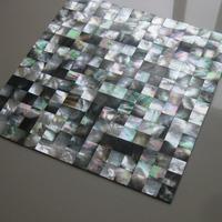 Black iridescent mosaics mother of pearl tiles-black lip shell kitchen backsplash tiles-bathroom wall flooring mirror pearl tile