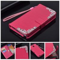 Luxury Classical diamond bling holder pu leather phone bags case for samsung galaxy note 3 n9000 n9005 original rhinestone cover