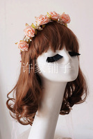 2736 FESTIVAL SUPPLIES/ARTIFCIAL FLOWER HEADBAND/FAKE FLOWER HAIRBANDS/HAIR BRIDAL/GIRL GARLAND/GARDUATION WREATH