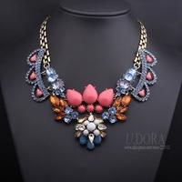 Women Beaded Crystals Fashion Choker Shourouk Necklace 2014