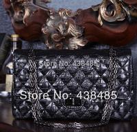 New 2014 Luxury Branded Women Chain Bag Handbag Genuine Leather Women Crocodile Bags Messenger Black Bag