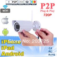 Onvif outdoor 720P HD wifi camera Megapixel CMOS CCTV Camera P2P Plug Play