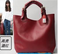 PROMOTION!! 2014 NEW ARRIVAL Genuine cowhide leather Women's/Ladies handbag Shoulder bag Shopping bag  Tote bag