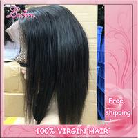 brazilian virgin full lace human hair wigs,lace front human hair wigs free shipping