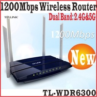 ChinseFirmware TP-LINK TL WDR6300 AC1200 Wireless Dual Band WiFi Router 4 Antenna 11AC Wireless Router TL-WDR6300,AP,WISP PROM10