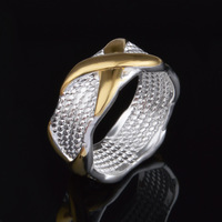 Hot Sale Silver and Gold Plated Ring for Men Free Shipping