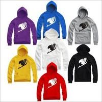 Hip HOP Hoodies Fairy Tail guild logo Men women Sports hooded Jacket men and women hip hop hoodies sweatshirt