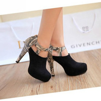 free shipping 2015 new arrivals fashion sexy wedges high heels pumps for women PU leather pump platform shoes for women044