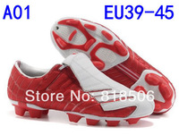 Free shipping wholesale cheap Newest Style Genuine Leather Spider Outdoor Cleat Soccer Shoes F50+ Mens Football Shoes Size39-45