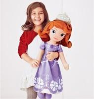 Free shipping original doll Princess Sofia The First plush doll 70cm  princess doll large plush toy soft toys for girls