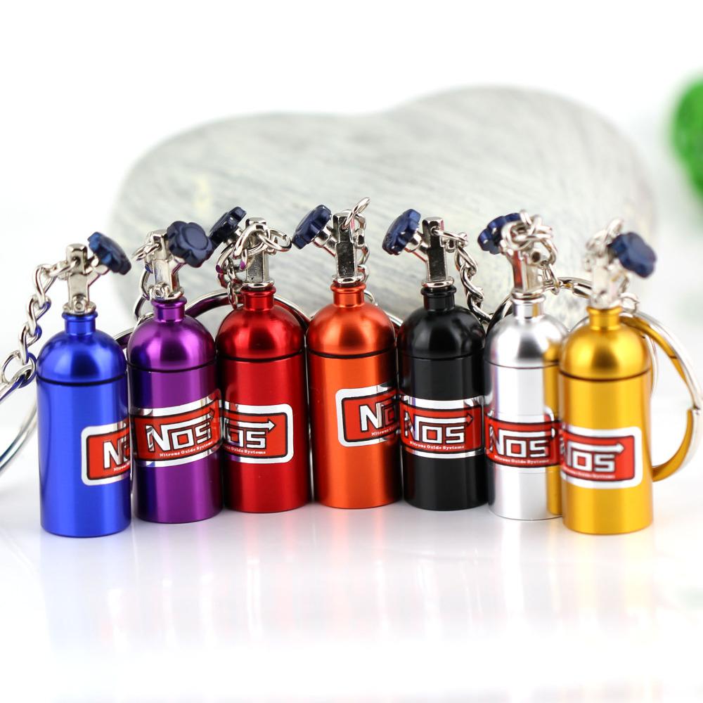 creativo nuova mini nos protossido di azoto bottiglia portachiavi portachiavi portachiavi scorta pillola scatola di immagazzinaggio turbo portachiavi