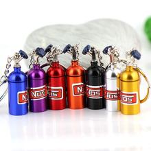 Creative New NOS Mini Nitrous Oxide Bottle Keyring Key Ring Keyfob Stash Pill Box Storage Turbo Keychain(China (Mainland))