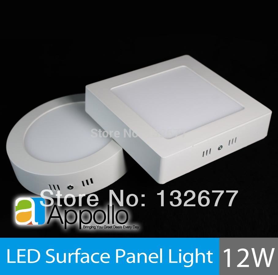 2pcs/lot led surface mounted panel light 12w kitchen light ceiling square 2835SMD AC85-265V warm /cool white Free shipping(China (Mainland))