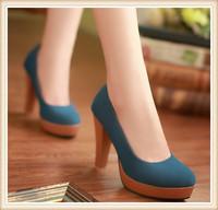 ENMAYER New 2015  fashion spring Round Toe womens shoes high-heeled wedding women pumps