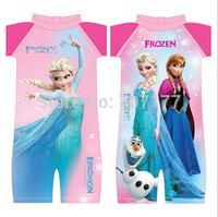 2015 new  Free shipping  baby  clothing girls girl one piece swimwear swimming costume bathers sun protect
