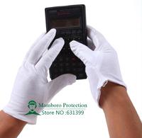 (12 pairs / lot ) Free shipping Anti-static 100% cotton work gloves safety gloves cotton gloves anti-static 100%