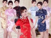 High Quality Silk Chinese Traditional Vintage Women Cheongsams Handmade100% Wedding Qipao Party Evening Dresses,S-2XL,7Colors!