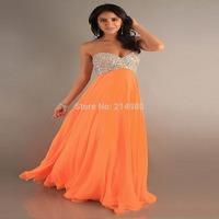 Free Shipping European New Prom Dress Women Sweetheart Shiny Full Beading High Quality Chiffon Long Evening Dresses Multicolors