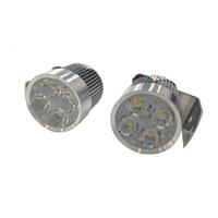 Free Shipping 2Pcs 12W Waterproof LED Day Headlight Spot Light Motorcycle Car Truck White