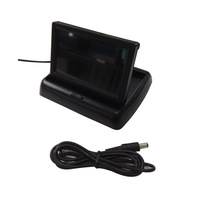 "Free Shipping 4.3"" Foldable LCD Car Reverse Rearview Car Monitor 2 Video Input DVD VCR CCTV"
