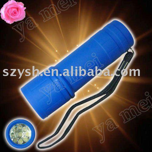 wholesales!50pcs/lot 9LED light mini plastic flashlight YM(China (Mainland))