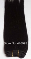 "14"" 16"" #1b off black color straight 100g/pack 300g/lot 100% Indian Remy Human Hair Weft hair weaves Extensions AAA FreeShip"
