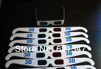 logo print white paper 3 d glasses red&blue