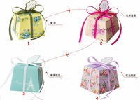 Free shipping 200pcs/lot Butterflies wedding gift wedding candy box packaging fresh wholesale candy box 4 color options
