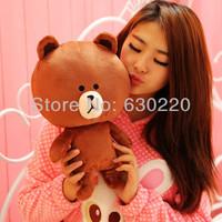 Hot sale In stock Line Brown Bear Kids Baby Plush Toy Stuffed Cute Plush Bear Animal Toys Free shipping & Drop shipping XL257