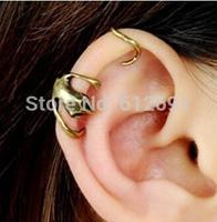 Hot sell Cat earring ear clip fashion 2015 ear cuffs earrings for women personality jewelry 1pcs free shipping
