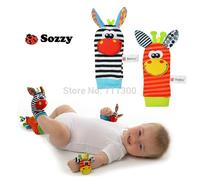 8pcs/lot baby toy 4 models new 2014 baby & kids stuffed animals rattle toys Stuffed & Plush toy Wrist Rattle and Foot Socks