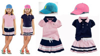 New, retails ,Free Shipping, kids clothes, girls clothes, boys clothes  polo kids clothes set,  1set/lot--JYS77