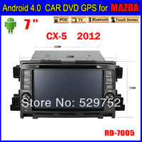free shipping navigation 7inch Andriod 4.0 Car dvd gps for MAZDA CX-5  Car Radio TOUCH SCREEN 3G Wifi Bluetooth TV IPOD