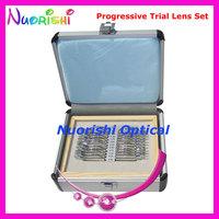 Free Shipping  22AL-JSPG  progressive trial lens set trial case - Shiny metal rim & Aluminum case