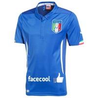 Top Men Thailand Italy Thai Version World Cup Home Kit 2014 New Italian Soccer Shirt Futbol Football Jersey
