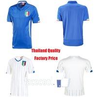 Italy World Cup Thailand Soccer Jersey 2014  home Blue away white Thai New Football Futbol Kit Shirt Blouse Camisa Brazil