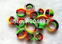 280pcs Mix 14 Gauges 3-26mm New Flexible Silicone Rasta Reggae Flesh Tunnel Ear Stretcher Expander Plug Body Piercing Jewelry