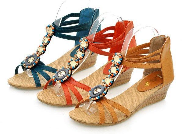 Новый летний Rotro рим женщин сандалии обувь женщина с ...