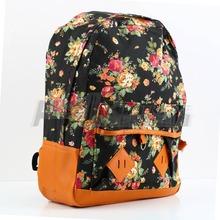 2pcs New Women Girl Vintage Schoolbag Bookbag Backpack Cute Flower Floral Bag Free / Drop Shipping(China (Mainland))