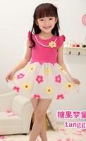 Fashion girls princess dress girls shortsleeve ball gown dress kid's dresses CD6