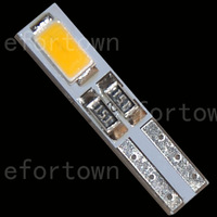 100pcs  T5 2-5630-SMD LED Warm White Dashboard Gauge Light Car Signal bulb 12V DC for hot sale  shipping free