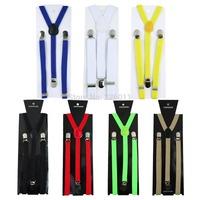 1Pcs Fashionable Clip-on Unisex Pants Y-back Elastic Adjustable Suspender Brace Hot Selling